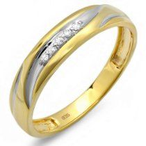 0.07 Carat (ctw) 18K Gold Plated Sterl