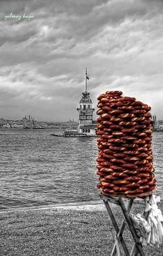 ✿ ❤ street food simit - Turkey - İstanbul (Maiden's Tower) Kızkulesi ve simitlerimiz :)) ❤ ✿