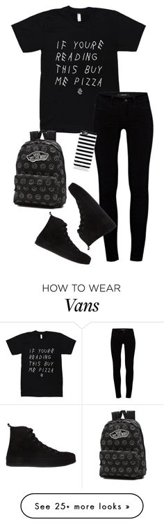 """Untitled #114"" by mia-v1 on Polyvore featuring J Brand, Ann Demeulemeester, Vans and Kate Spade"