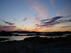 Sunset over Iona.
