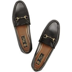 63bb619be62 Gucci Horsebit-detailed leather loafers ( 545) ❤ liked on Polyvore  featuring shoes