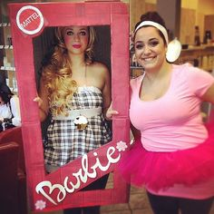 Barbie: Life in plastic can be pretty fantastic for a night. What you need to do: Do your Barbie makeup, wear long blonde locks, and find a pink outfit. A Barbie cardboard box is also a cute touch. Source: Instagram user cupcakeberggie