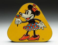 Minnie Mouse...Walt Disney Enterprises....Australian sweet tin, 1930's