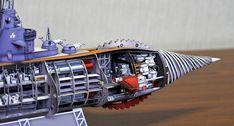 B7_2 Fantastic Voyage, Stargate Atlantis, Deep Space, Model Ships, Paper Models, Blade Runner, Plastic Models, Akira, Scale Models