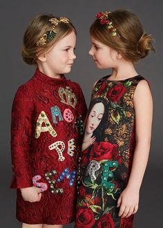 39 New Ideas fashion kids dress dolce & gabbana Dolce Gabbana 2016, Vestido Dolce Gabbana, Dolce And Gabbana Kids, Fashion Kids, Young Fashion, Little Girl Dresses, Girls Dresses, Mode Chic, Little Fashionista