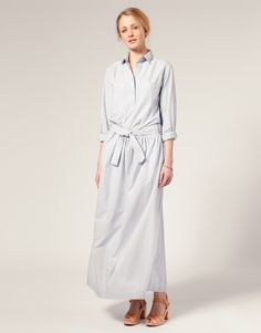 Long shirt maxi dress