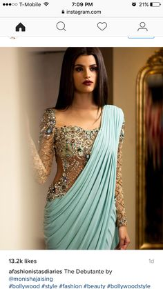 Mint saree