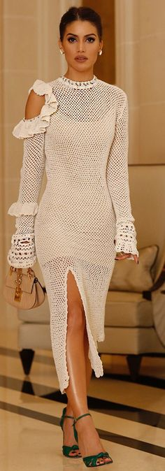 #fall #fashionistas #outfits | Crochet Maxi Dress