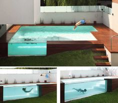 pool with see through sides, very cool