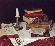Nature morte avec livres et Candle - (Henri Matisse)