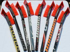 Hockey Stick Snow Brush and Ice Scraper, this would be a fun idea to give to all my hockey friends.