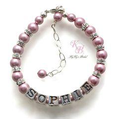 Sterling Silver Flower Girl Bracelet, Personalized Flower Girl Gift, Flower Girl Jewelry, Flower Girl Gift, Personalized Gift, Keepsake