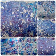 Peindre avec de la mousse à raser - Techniques de peinture - lesptitsbricoleurss jimdo page!