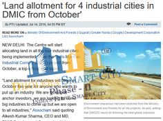 'Land allotment for 4 industrial cities in DMIC from October'.