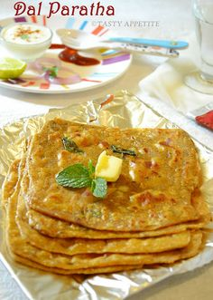 #Chana Dal Paratha -- made 2x. add leftover daal, dry methi, salt & pepper & garam masala to the flour before kneading