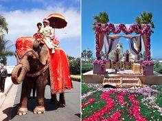 Pretty mandap for an outdoor Indian wedding.