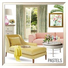 """""""Pastels"""" by queenofsienna ❤ liked on Polyvore featuring interior, interiors, interior design, home, home decor, interior decorating, Heathfield & Co., Laura Ashley, Muuto and Menu"""