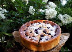 Sernik z jogurtow greckich z borówkami Camembert Cheese, Food And Drink, Pudding, Pie, Baking, Cakes, Drinks, Torte, Drinking