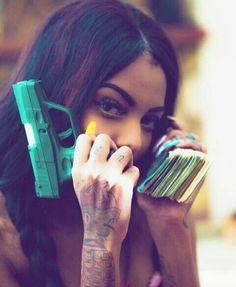 and this my playgirl gang shiii Bali Baby, Hood Girls, Gangster Girl, Trap Queen, Thug Life, Girl Gang, Baddies, Mazda, Guns