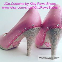 A personal favorite from my Etsy shop https://www.etsy.com/listing/293274701/the-pink-powder-room-pumps-from
