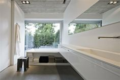 Boffi kitchens – bathrooms - systems Gray floors - concrete