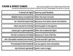 Cause and Effect Activity by JennyG