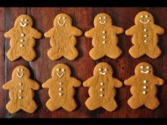 Gingerbread Men Recipe Demonstration - Joyofbaking.com - YouTube