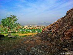 شهرصنعتی اراک از کوه و آلودگی شهری-عکس با موبایلMountains and contaminated industrial city of Arak c by Aahmad Hezavei