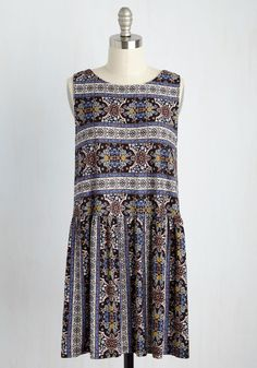 One Last Bliss Dress. Celebrate a sunset walk on the beach with this patterned mini dress! #multi #modcloth