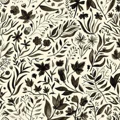 black & white floral // Rachel Levit