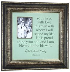 Parents of the Groom Gift Personalized by Photo Frame Originals