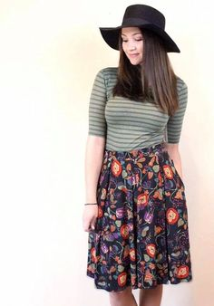 Julia & Madison Styling: If you already have a Julia or want one, a Madison skirt is a great item to pair it with. The fitting top is balanced out with the full skirt and the Julia layer under the skirt adds some warmth too! Come shop with me! https://www.facebook.com/groups/lularoeerinwoolley/
