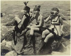 amazing vintage beach attire These are my Girlfriends, look very close.  LOL you know who you are