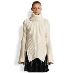 Alexander McQueen Women's Funnel Neck Wool & Cashmere Sweater