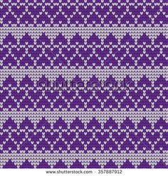 Ornamental Pattern For Knitting And Embroidery Heart Stock Photos, Images, & Pictures Fair Isle Knitting Patterns, Knitting Charts, Knitting Stitches, Knitting Designs, Knit Patterns, Baby Knitting, Embroidery Patterns, Cross Stitch Patterns, Beading Patterns