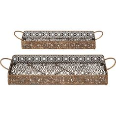 2-Piece Seychelles Serving Tray Set - Woodland Imports on Wayfair