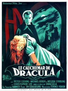 French poster for Hammer's 'Horror of Dracula'