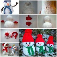Knitted-Snowmen-F3 - WonderfulDIY.com