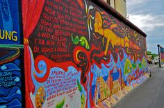 Berlin Wall. Seems there are graffiti artists everywhere and what better canvas than this infamous wall.