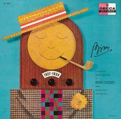 Copertina di Alex Steinweiss per il disco Bing: A Musical Autobiography di Bing Crosby, 1954