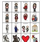 This is a pack of for your writing center or word wall.  It is a set of family words and contains a full page list (color and black and white versi...