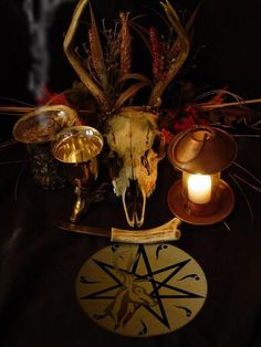 A Witch's Samhain Ritual Altar - Sacred Space