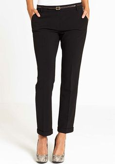 Meeting today on UWS - wore black, cropped pants like these with black sweater and white button down.
