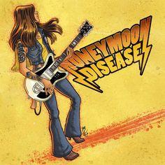 My Honeymoon Disease fanart (Jennifer Israelsson : vocals & guitars) . Made in GengisKahn Artwork©. #HoneymoonDisease #Fanart #GengisKahnArtwwork #GroovyRocknRoll #FromGöteborg