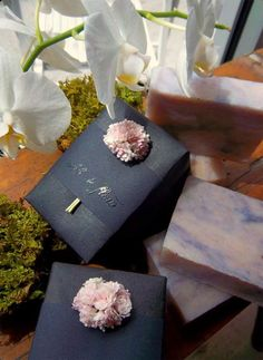 This makes a great hostess gift: Vegan Soaps and Soy Candles by Ebb & Flow NYC. Their packaging makes their products seem really luxurious which makes us love them even more.