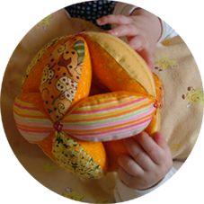 kleine STICHE: amish puzzel ball (Anleitung)