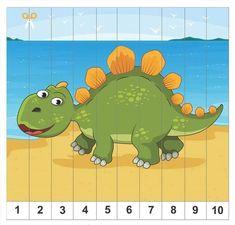 Dinosaur Theme Preschool, Dinosaur Activities, Numbers Preschool, Toddler Learning Activities, Work Activities, Preschool Curriculum, Preschool Activities, Child Teaching, Diy Back To School