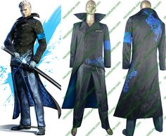 DMC Devil May Cry Vergil cosplay costume halloween costume game outfit