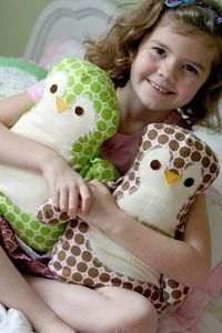 Annie's Penguin Pillow PDF Sewing Pattern -- give little owl ears and it is an owl!