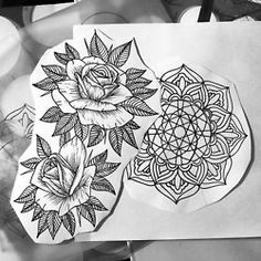 More up coming tattoos. #mandala #rose #tattoo #tattooartist #sanfrancisco #sacredgeometry #sanfranciscotattoo #bayarea #prophetsandpoets #artcolletctive #dotwork #olivertattoos  (at Bulldog Tattoo)